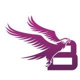 Логотип b инициала хоука вектора фиолетовый храбрый Стоковые Изображения RF
