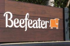 Логотип Beefeater Стоковые Изображения RF