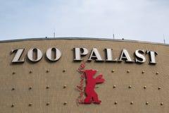 Логотип Berlinale, кино Palast зоопарка, Берлин стоковые фото