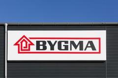Логотип Bygma на стене Стоковое Изображение