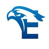 Логотип c инициала орла вектора голубой Стоковая Фотография