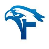 Логотип c инициала орла вектора голубой Стоковые Изображения