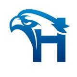 Логотип c инициала орла вектора голубой Стоковое фото RF