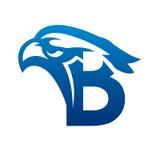 Логотип c инициала орла вектора голубой Стоковая Фотография RF