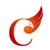 Логотип c инициала хоука вектора оранжевый Стоковое Фото