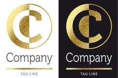 Логотип c письма Стоковые Фото