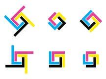 Логотип Cmyk Стоковые Фото