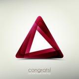 Логотип Congrats Стоковые Фотографии RF