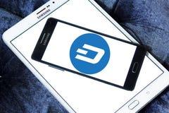 Логотип cryptocurrency черточки Стоковое Изображение