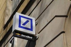 Логотип Deutsche Bank стоковое изображение rf
