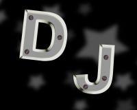 Логотип DJ Стоковые Изображения