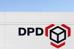 Логотип DPD на стене Стоковое фото RF