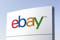 Логотип Ebay на панели Стоковое Фото