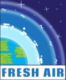 Логотип eco свежего воздуха в плоском стиле Дизайн логотипа современный Эмблема, знамя, стикер, значок Вектор запаса Стоковая Фотография