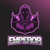 Логотип Esport воина Шаблон логотипа Esport с носить шлем и панцырь боя бесплатная иллюстрация