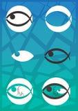 Логотип Fishs Стоковая Фотография