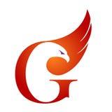 Логотип g инициала хоука вектора оранжевый Стоковое фото RF