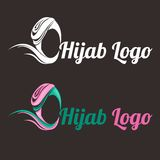 Логотип Hijab Стоковые Фото