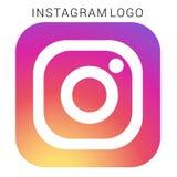 Логотип Instagram с файлом Ai вектора Приданный квадратную форму покрашенный иллюстрация штока
