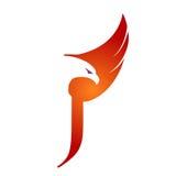 Логотип j инициала хоука вектора оранжевый Стоковое Изображение