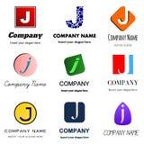 Логотип j письма Стоковые Изображения RF