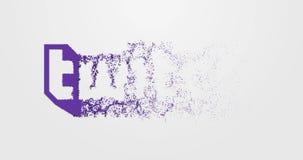 Логотип 4K Twitch оживленный иллюстрация вектора