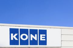 Логотип Kone на стене Стоковая Фотография