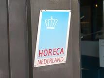 Логотип Koninklijke Horeca Nederland KHN стоковые фото