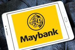 Логотип Maybank Стоковое Изображение