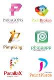 Логотип p письма иллюстрация вектора