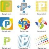 Логотип p письма иллюстрация штока