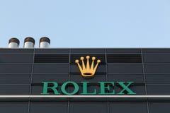 Логотип Rolex на стене Стоковые Фото