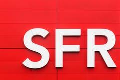 Логотип SFR на стене Стоковые Изображения