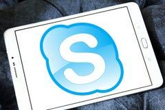Логотип Skype Стоковые Изображения RF