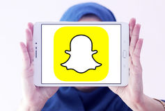 Логотип Snapchat Стоковое Фото