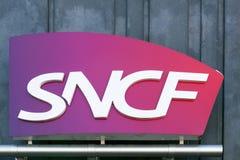 Логотип SNCF на стене Стоковые Изображения RF