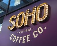 Логотип Soho Кофе Компании стоковое фото