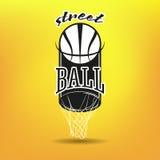 Логотип Streetball Стоковые Фотографии RF