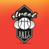 Логотип Streetball Стоковое Изображение RF
