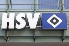 Логотип SV гамбургера на стене Стоковая Фотография RF