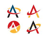 логотип swoosh письма Стоковое фото RF