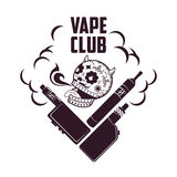 Логотип vape иллюстрации вектора винтажный Стоковые Фото