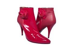 лодыжка boots красный цвет очарования Стоковые Фото