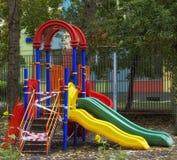 Ложа игры ` s детей в дворе Стоковые Изображения RF