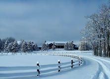 Ложа парка ледника, взгляд зимы Стоковое Изображение