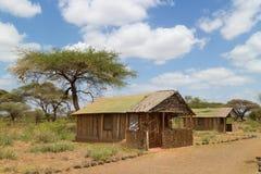 Ложа традиционного африканского сафари туристская Стоковое Фото
