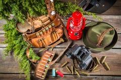 Ложа Forester вполне оборудования для охотиться Стоковая Фотография