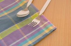 Ложка в обедающем таблицы Стоковые Изображения RF