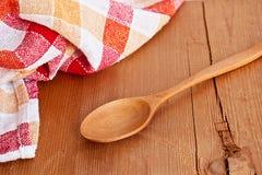 ложка деревянная Стоковая Фотография