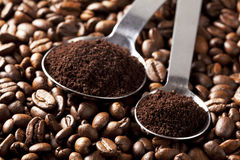 ложка измерения кофе Стоковые Изображения